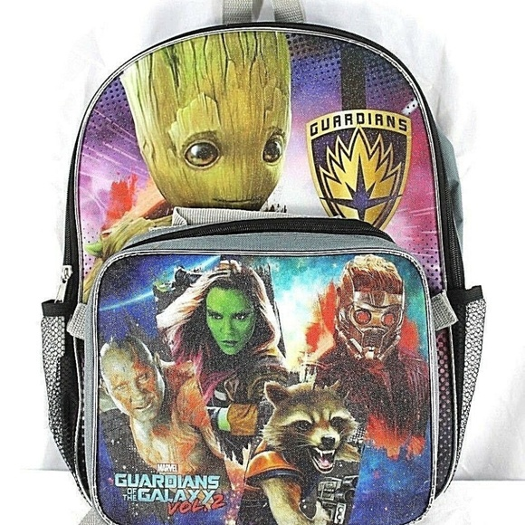 "Marvel Gadians of the Galaxy Vol 2 Groot 16/"" Large School Backpack Book Bag"